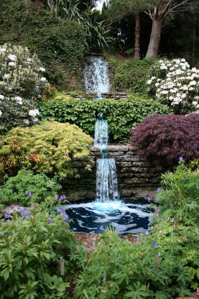 Relaxing Backyard Waterfalls Ideas - Rilane on Waterfall Ideas For Garden id=61563