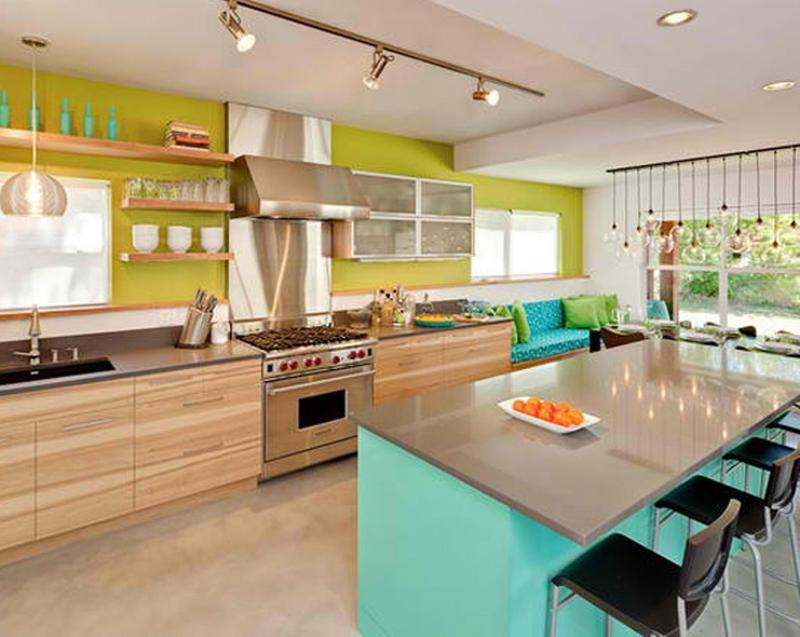 15 vibrant and colorful kitchen design ideas rilane on best colors for kitchen walls id=62338