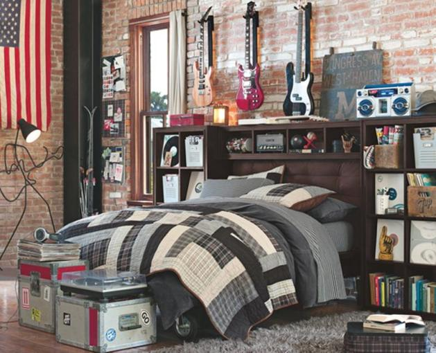 Music Inspired Bedrooms for Teenagers   Rilane Guitar Inspired Bedroom