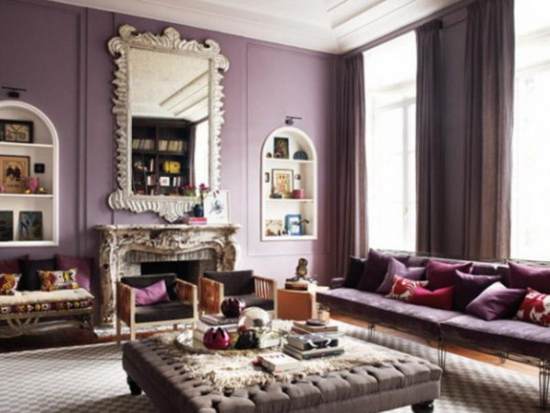 Charming 20 Dazzling Purple Living Room Designs Rilane Part 31