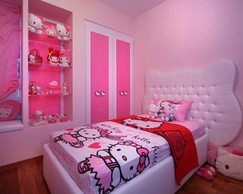 15 Adorable Hello Kitty Bedroom Ideas for Girls - Rilane on Simple But Cute Room Ideas  id=75381