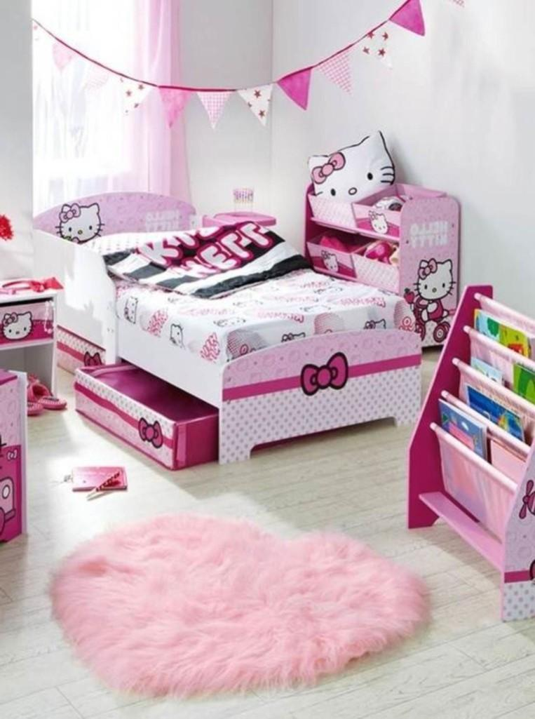 15 Adorable Hello Kitty Bedroom Ideas for Girls - Rilane on Bedroom Ideas For Small Room  id=42759
