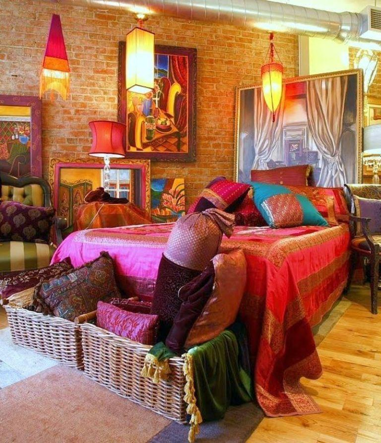 20 Whimsical Bohemian Bedroom Ideas   Rilane 20 Whimsical Bohemian Bedroom Ideas