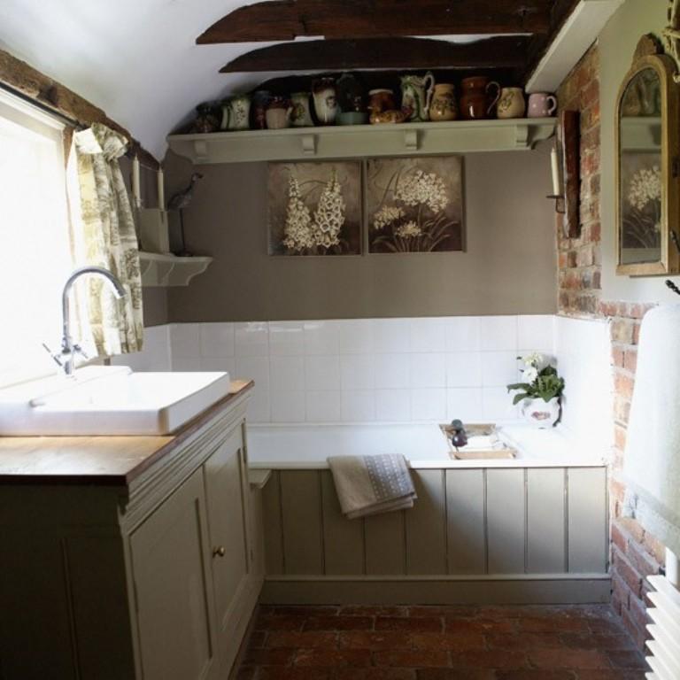 15 Charming French Country Bathroom Ideas - Rilane on Rural Bathroom  id=81375