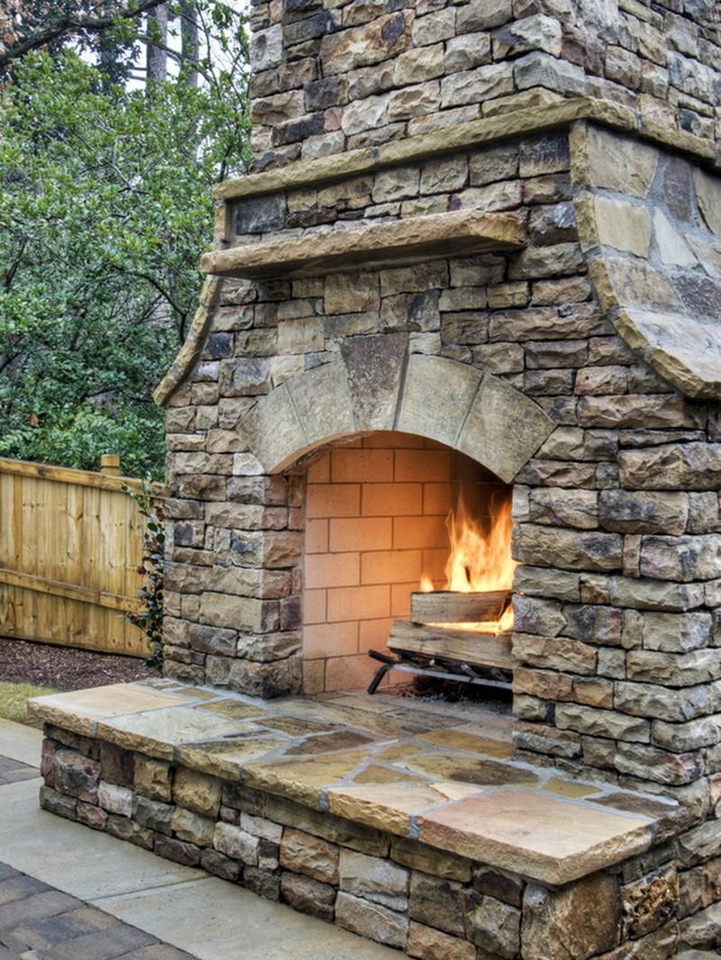 10 Amazing Outdoor Stone Fireplace Ideas to Inspire - Rilane on Amazing Outdoor Fireplaces  id=45637