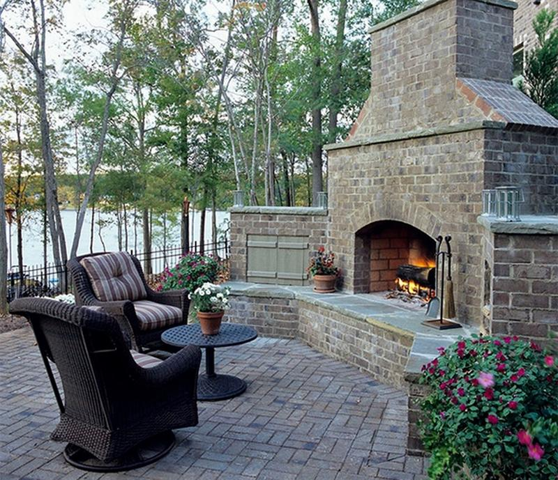 10 Amazing Outdoor Stone Fireplace Ideas to Inspire - Rilane on Amazing Outdoor Fireplaces  id=40052