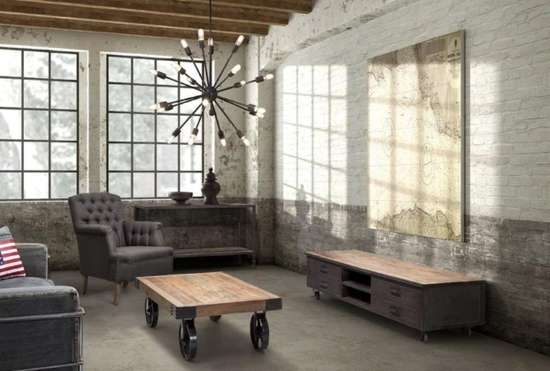 vintage industrial living room ideas