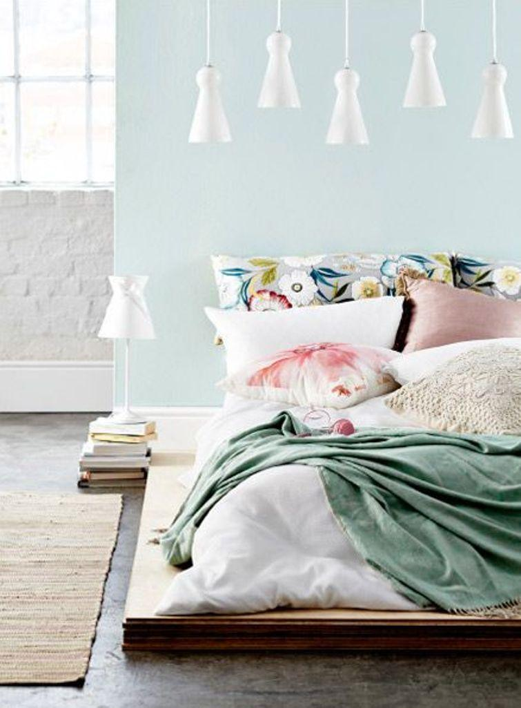 15 Soft Bedroom Designs with Pastel Color Scheme - Rilane on Small Room Pallet Bedroom Ideas  id=78424