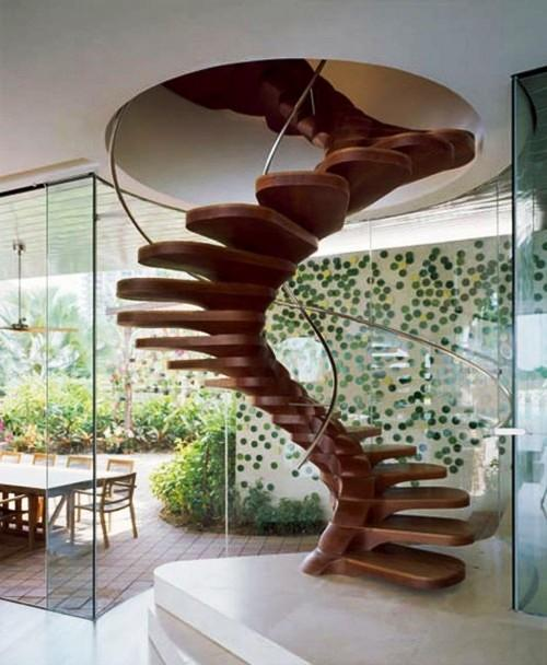 15 Natural and Beautiful Outdoor Staircases - Rilane on Backyard Stairs Design id=29302