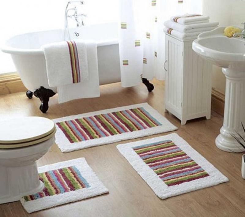 10 interesting and fun bathroom area rugs - rilane