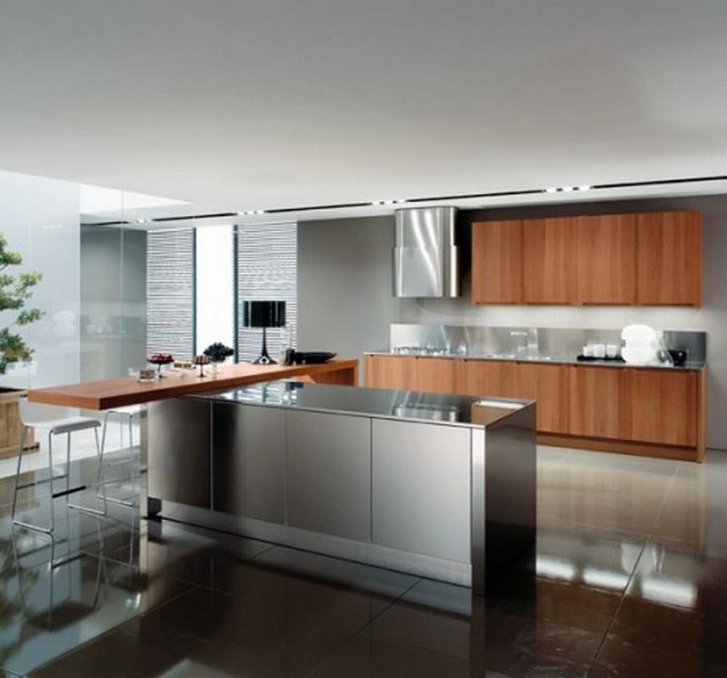 15 Contemporary Kitchen Designs with Stainless Steel ... on Modern Kitchen Ideas  id=96268