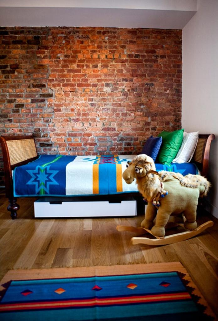 15 Amazing Kids Bedroom Designs With Exposed Brick Walls