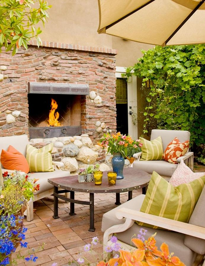 15 Cozy Outdoor Designs with Fireplace Ideal for Fall - Rilane on Small Outdoor Fireplace Ideas id=90620