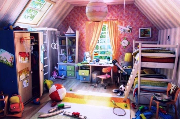 15 Interesting Kids Attic Bedroom Ideas Rilane