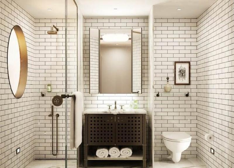 Subway Tiles in 20 Contemporary Bathroom Design Ideas - Rilane on Bathroom Ideas Subway Tile  id=22591