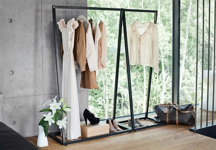 12 superb bedroom clothes rack designs - rilane
