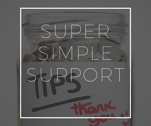Super Simple Support Tip Jar Riley Adam Voth Product