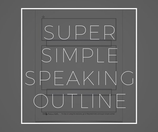 Super Simple Speaking Outline Riley Adam Voth Product