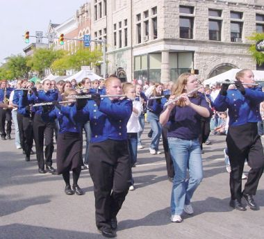 Blue Flutes in parade