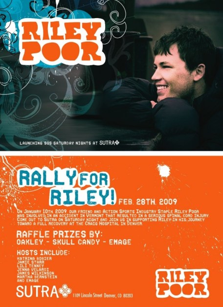 Fundraising event for Riley this Saturday, 2/28 in Denver at Sutra! Spread the word, and we'll see everyone there!