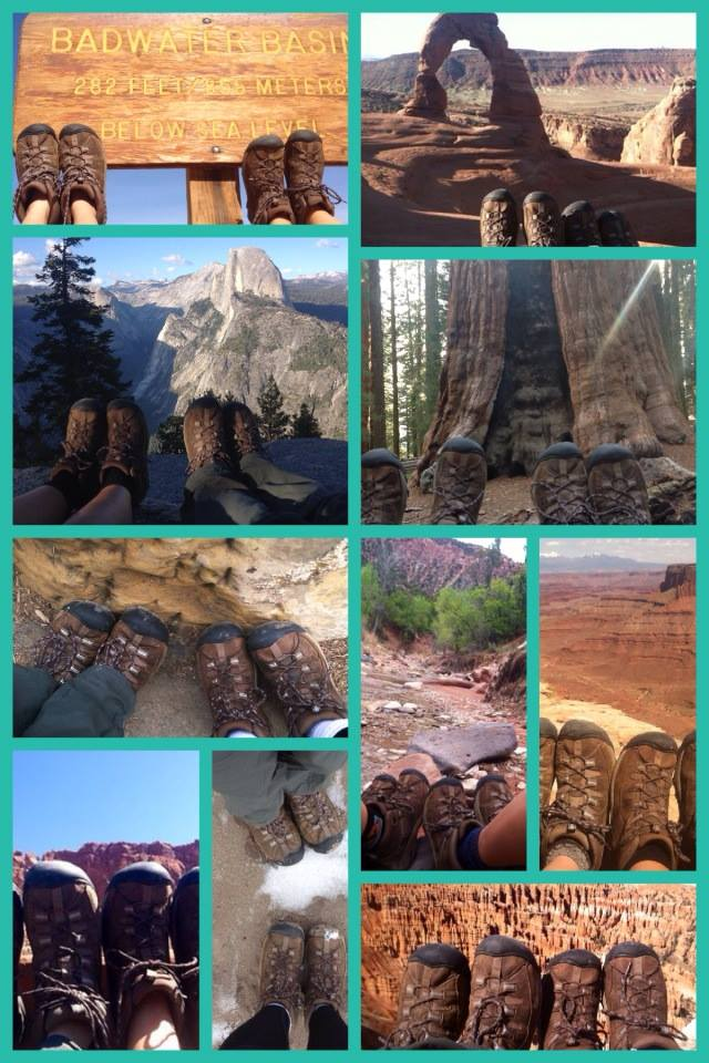 Among so many other similarities, Allison and I had the exact same pair of hiking boots. We took a photo of them in every national park we visited.