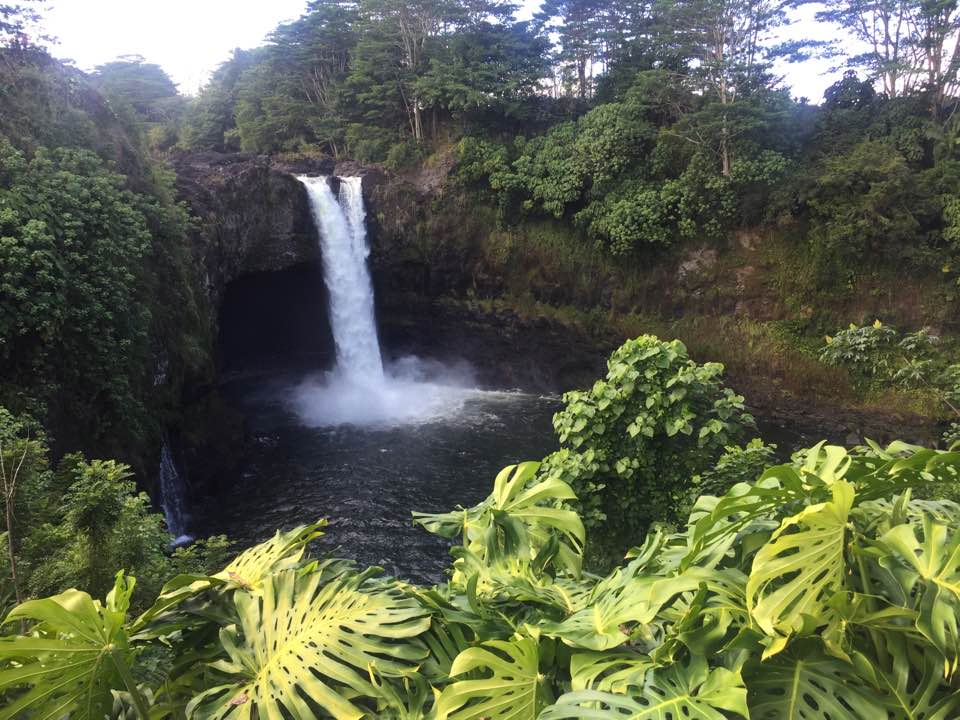 Rainbow Falls in Hilo, Hawaii