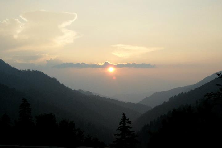 Sunset in Great Smoky Mountains