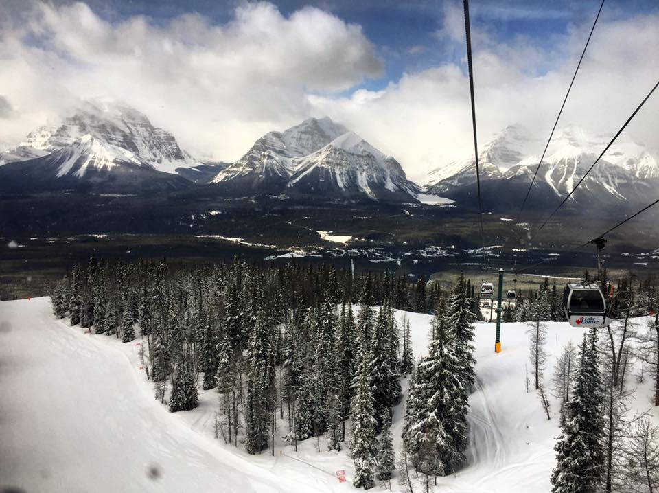Taking a ride on the Lake Louise ski lift