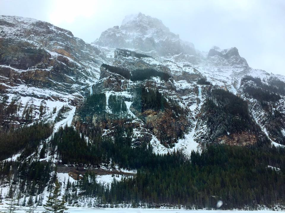 The view from Field, British Columbia in Yoho National Park