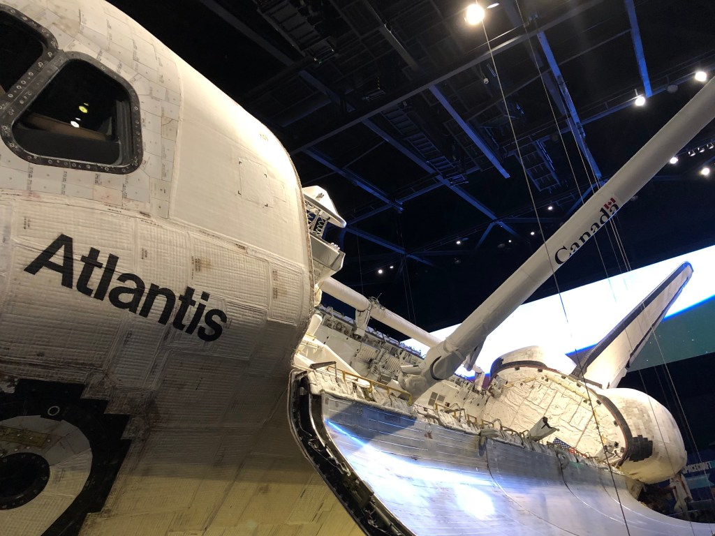 The space shuttle Atlantis lives on display at Kennedy Space Center