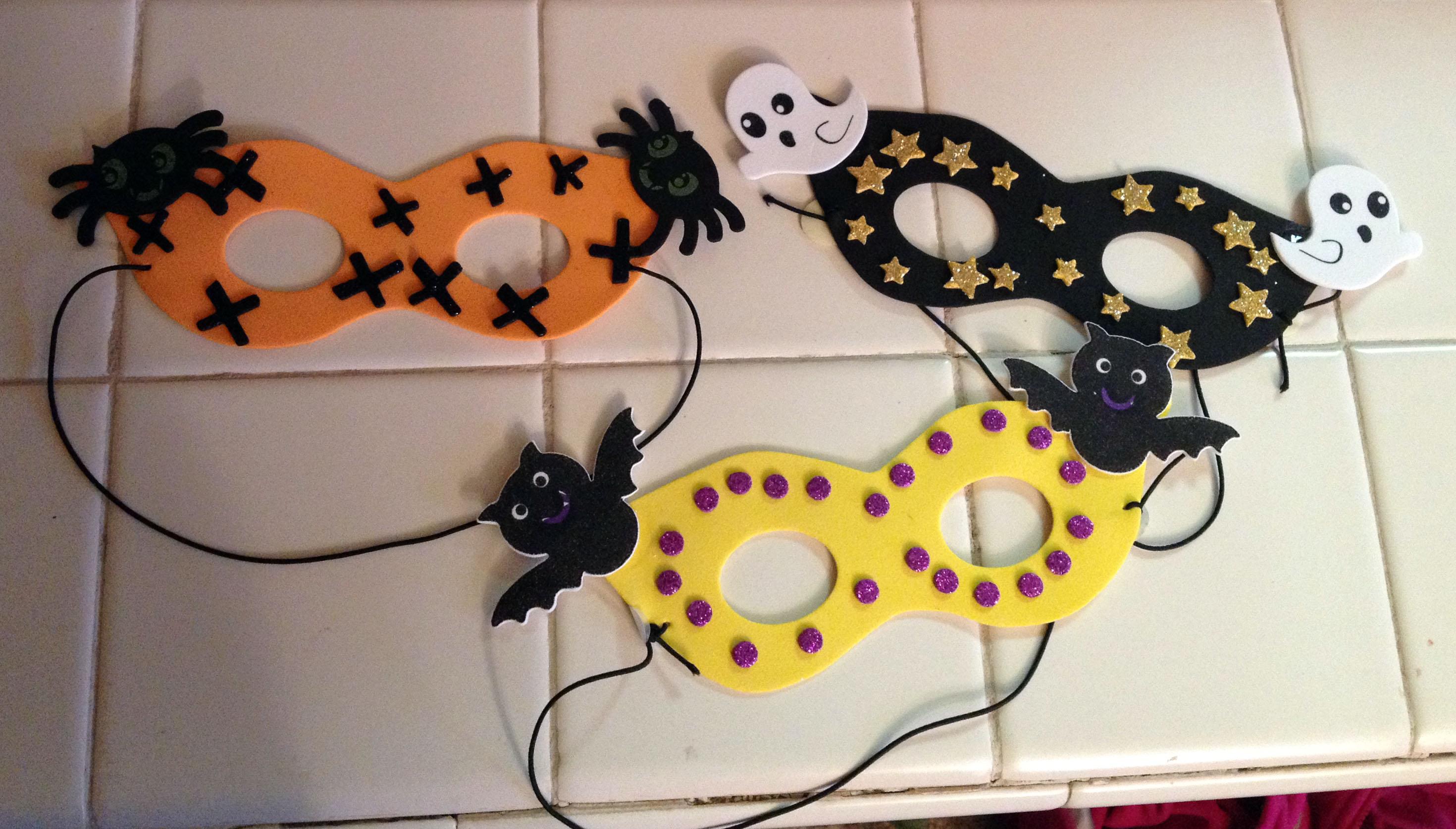 Kids Crafts Halloween Masks