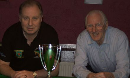 Dan Carroll takes the Griffith Cup Tour 2 event recently at Joeys Dublin