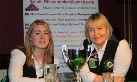 Danielle Randle from Kilkenny takes the 2016 RILSA National Championship title at Joey's Dublin