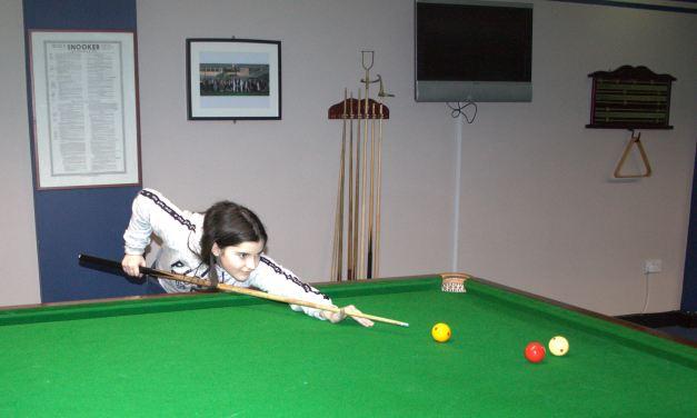 RILSA Billiards – Junior player Roisin Beale will set new milestone in March