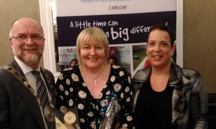 AWARD FOR ANNETTE NEWMAN – CARLOW VOLUNTEER SERVICE 2018