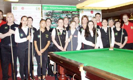 The 4th International Ladies Irish Open Is underway at Joey's Dublin