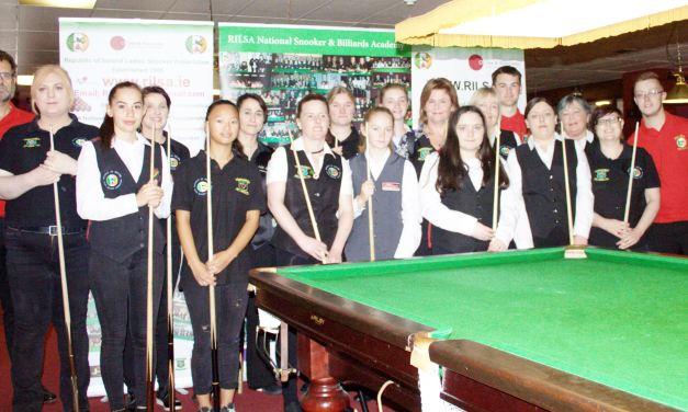 The 4th International Ladies Irish Open Is underway at Joey's Dublin