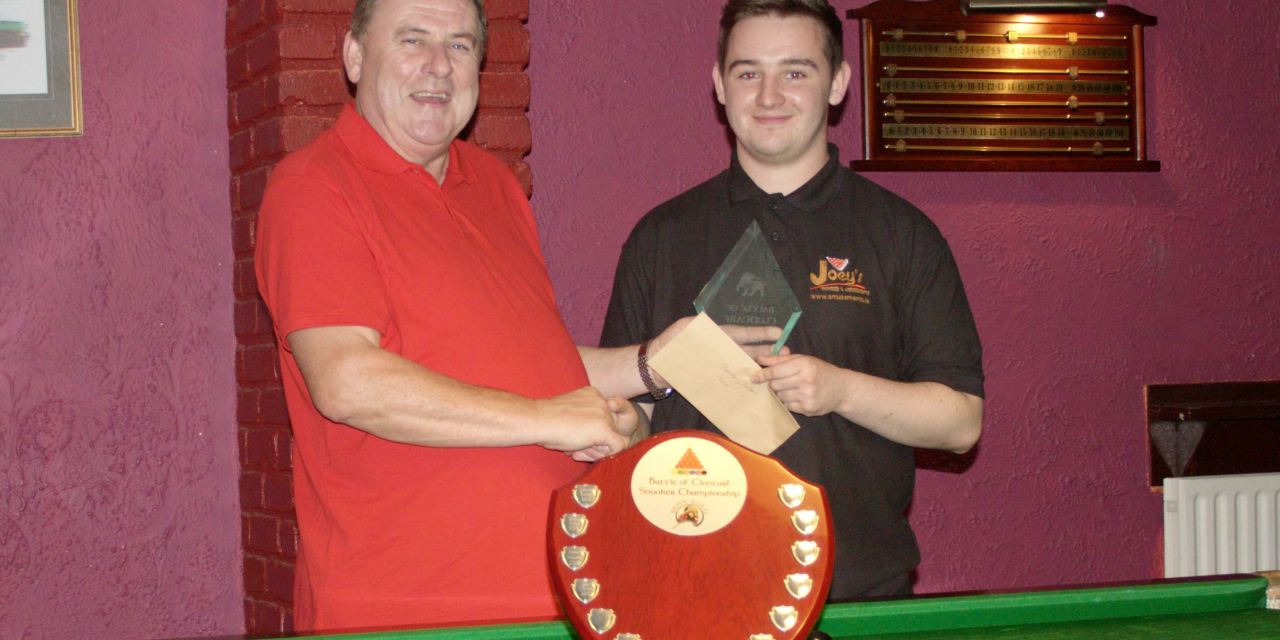 Aaron Holland Wins Battle of Clontarf Snooker Championship for the second time