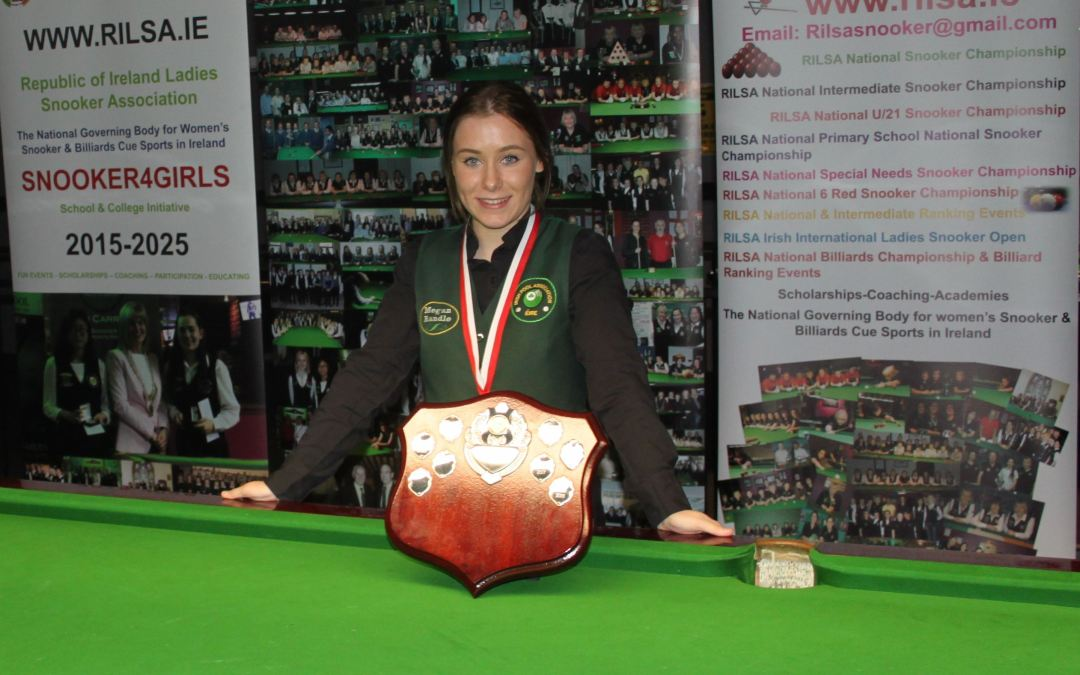 Megan Randle Wins the RILSA National Intermediate Snooker Championship title for the second time in Newbridge