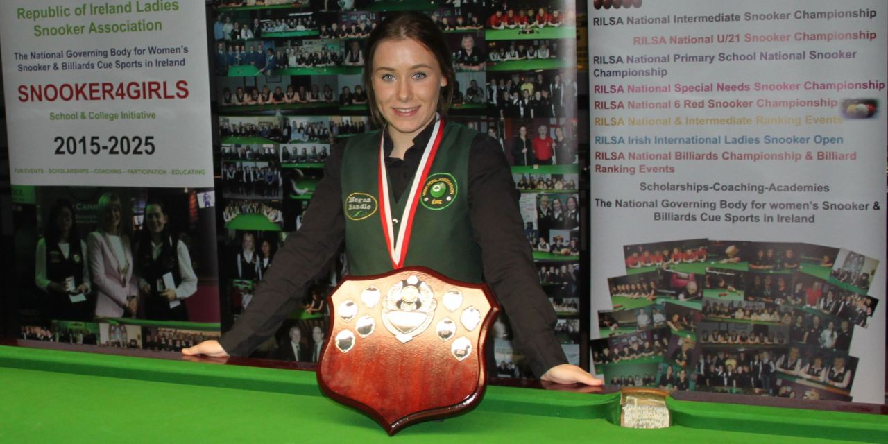 Megan Randle Wins the RILSA National Intermediate Snooker Championship title for the second time in Newbridge