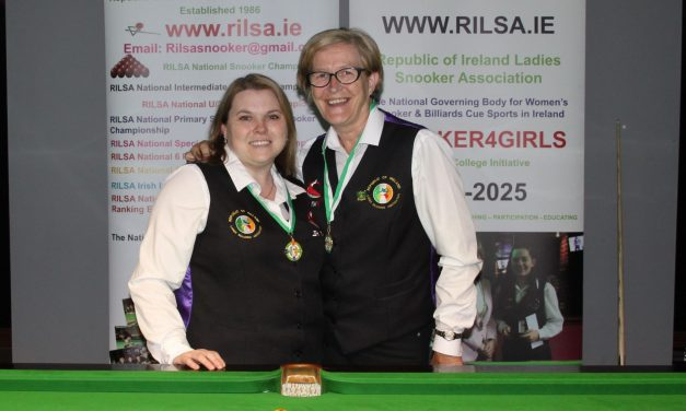 Joanna Ward Wins Intermediate Billiards Ranking 3 @ Sharkx Newbridge