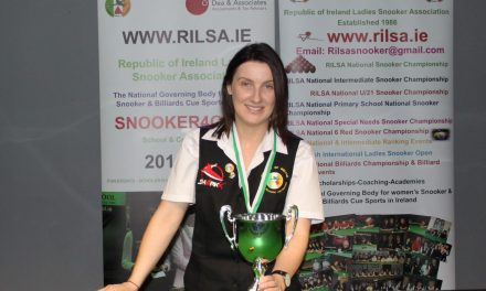 Valerie Maloney from Laois remains Intermediate Billiards Number 1 for the 3rd Season in a Row