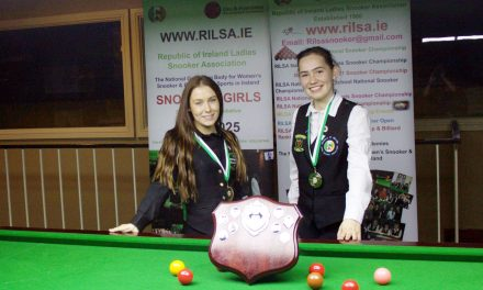 Megan Randle Retains her National Intermediate Snooker Championship Title at Sharkx Newbridge
