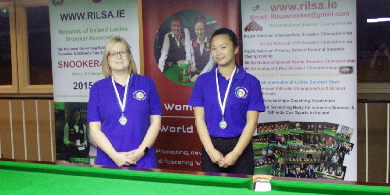 Tina Keogh Wins Intermediate Billiards Ranking 2 at the RILSA Academy Newbridge