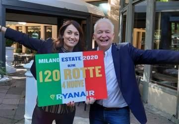 """Ryanair, sempre più voli da Milano e Bergamo. """"Record di rotte per l'estate 2020"""""""