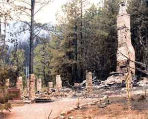 Zane Grey Cabin after Dude Fire