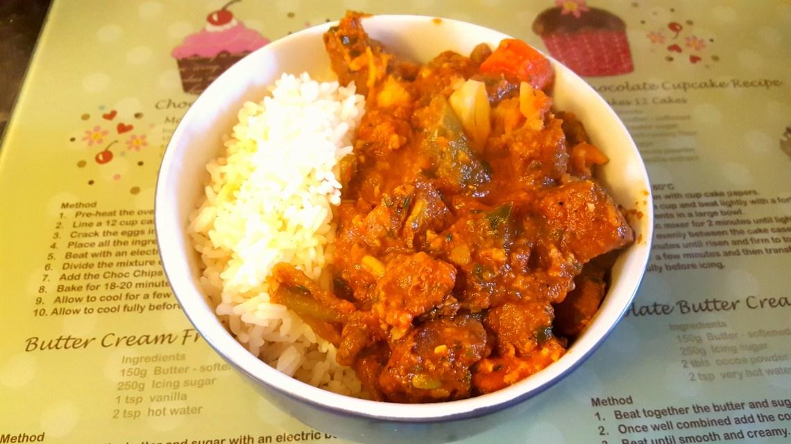 Caribbean Beef Pepperpot Stew & Rice