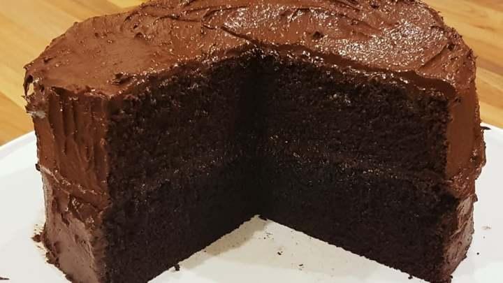 Chocolate Cake with Chocolate Orange Buttercream.