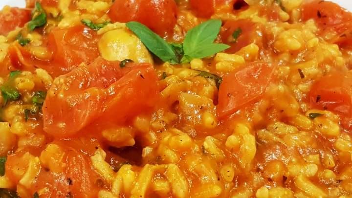 Creamy Tomato Risotto