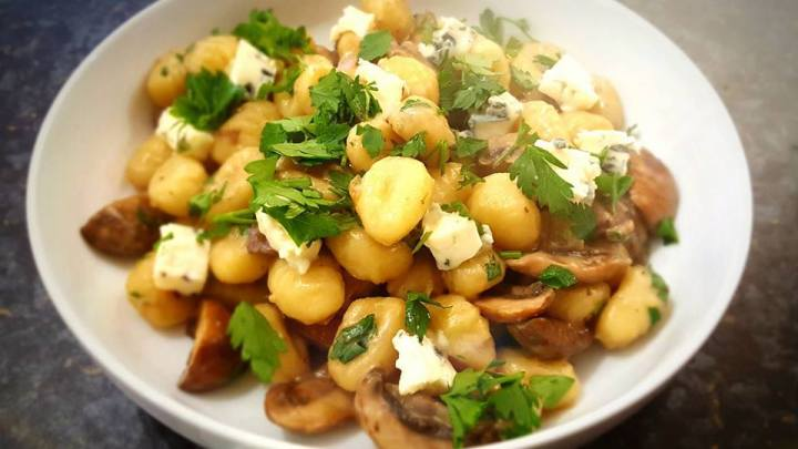 Gnocchi with Mushrooms & Blue Cheese